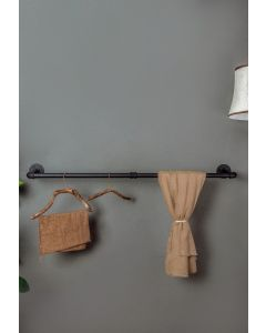Industrial Iron Wall-Mounted Pipe Rack Closet Hanger