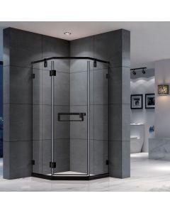 Black Frame Shower Door