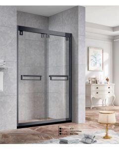 Black Heavy Duty Shower Door