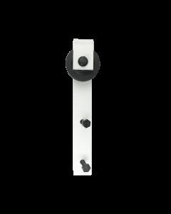 White J Barn Door Hardware